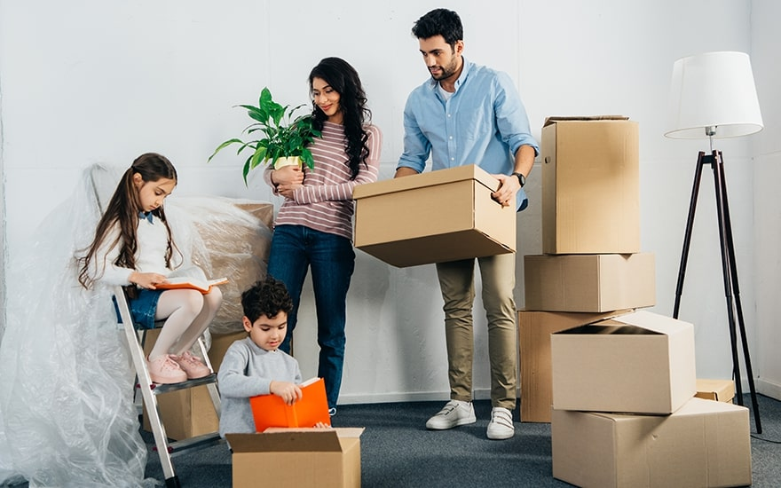 sort and downsize when moving with kids